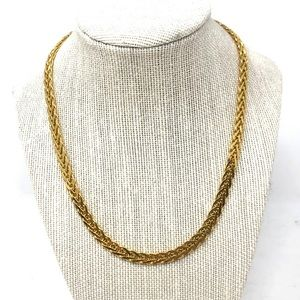 Sterling, gold overlay, necklace, Italy, 39.1g